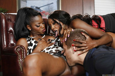 Office MMF with Black pretties Diamond Jackson and Jasmine Webb