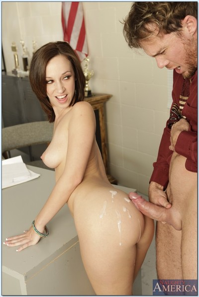 College prostitute Jada Stevens bangs and attains semen on her enormous apple bottoms