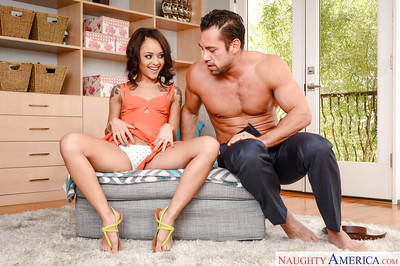 Small Latin babe infant Holly Hendrix winning painful smoking of virgin rectal hole