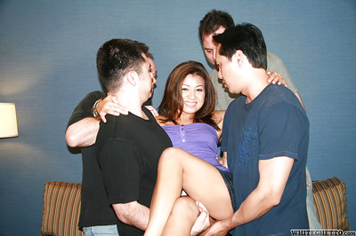 Sexually excited oriental MILF benefits from her twat creampied exactly after sizzling groupie activity
