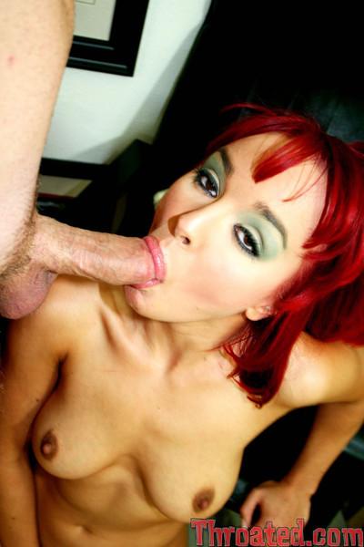 Redhead siren cytherea giving tacky spiteful deepthroat