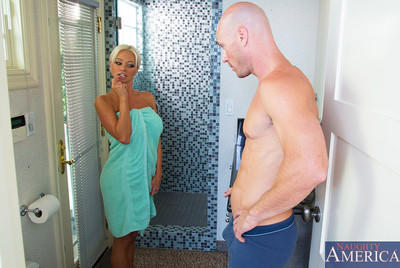 Nikita Von James has perspired love making act with younger guy and this girl devotes to getting penetrated right not including the shower.