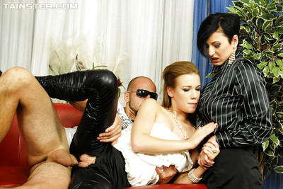 Alexis Crystal enjoys a completely covered groupsex with her allies