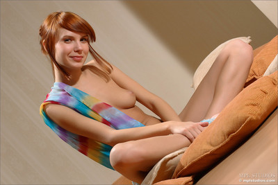 Marvelous youthful nata shows off great body on cushions