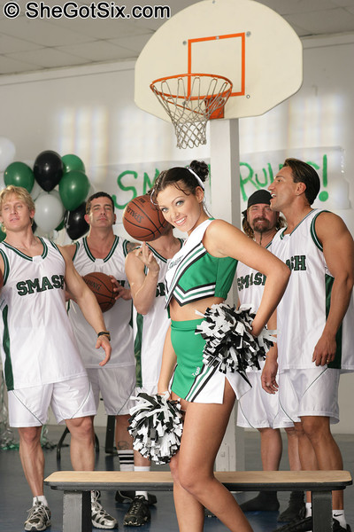 Cheerleader group-bonked