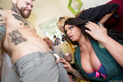 Large boob dark brown Kerry orally fixating a jock and being drilled hardcore