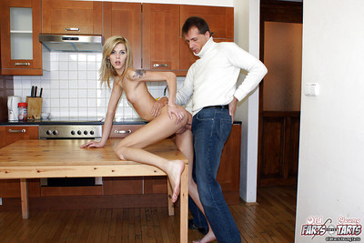 Lean blond marsh mellow benefits from her smooth head gentile dug and glazed with sex cream