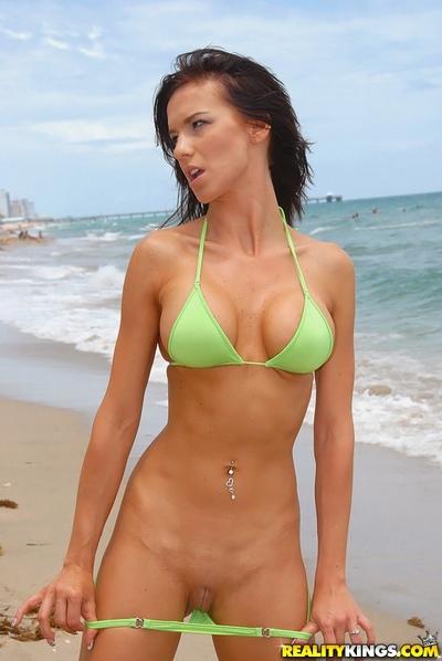 Outdoor boob milf bikini posing and sexy hardcore indoor fuck