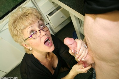 Milf tracy jerking vast wand for some sensible load of spunk