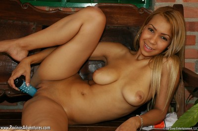 Tania receives her a game on and plays a adult baby bit with her toys