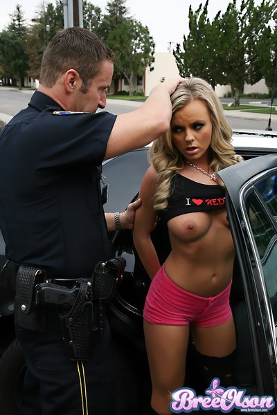 Bree olson lower arrest sucks and bonks an officer