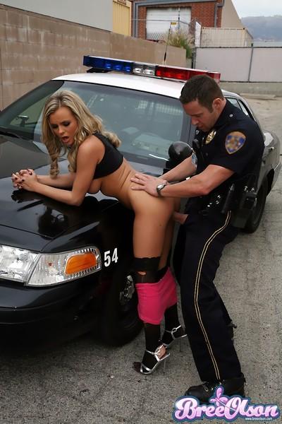 Bree olson lower arrest sucks and bonks an officer