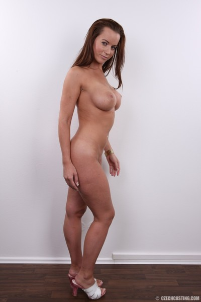 Boobsy brunette hair with immense front bumpers