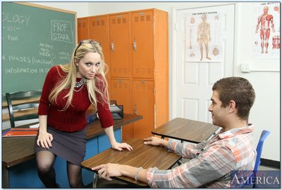 Salacious daddy in nylons Aiden Starr accepts shagged in the classroom