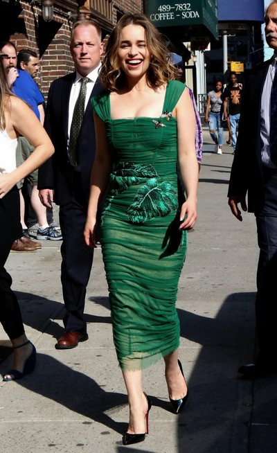 Emilia clarke rounded in a slightly sheer raw clothing