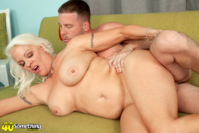 First, Veronica Copulates Our Stud. Her MILF Copulates Next.
