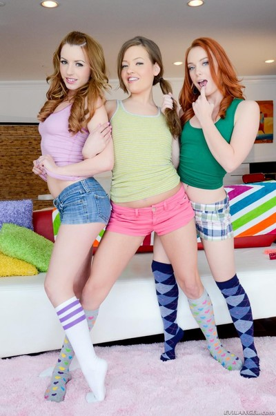 Lexi belle dani and ashlynn argue who will be the 1st to oral sex and fuck heavy pi