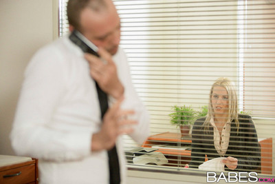 Christen courtney seduces her boss in his office