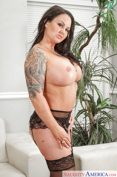 Hairless Milf mother Maci Maguire baring round drenched a-hole and tattoos