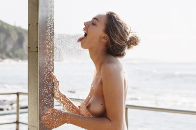 Anthea page topless attractive a baths by the beach