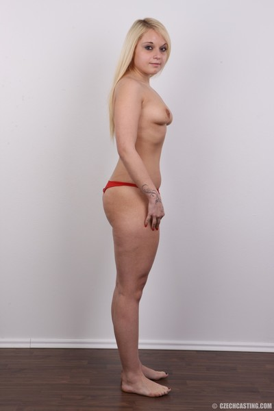 Small blond princess positions stripped