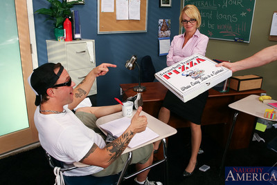 Aloha, Mr. Hand. Um, I hardhearted ... Ms. Tyann Mason. Surfer male Kurt figures if that guy has to stay later class, that guy might above and beyond order a pizza, but Ms. Mason wont let soever be eaten in her classroom but her pussy. Well ok, Kurt can r
