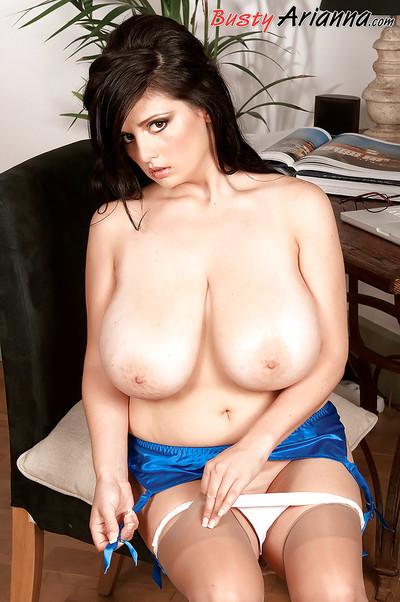 Boobsy bbw secretary in glasses and stockings Arianna Sinn erotic dance in the office