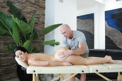 Seductive dark hair gal Jayden Jaymes purchases gangbanged hardcore right after massage