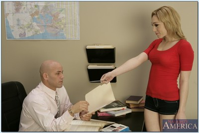 Hawt college doll Lily LaBeau excited her tutor for hardcore astonishingly