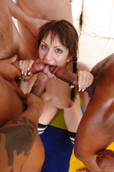 Anita Hengher purchases blowbanged and owned hardcore by four hungry gentlemen