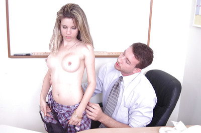 Marvelous schoolgirl fairy-haired adolescent Lily knows how to give a charming cocksucking