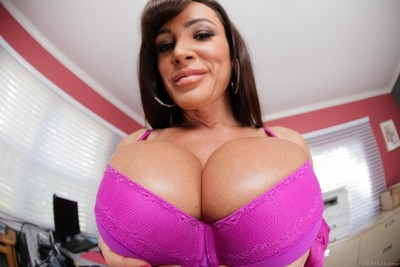 Close up scenes with lisa ann that bares her incredibly large mangos off and plays the