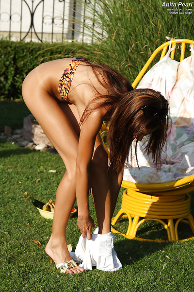 Graceful fresh girl erotic dancing and wanking her gentile outdoor