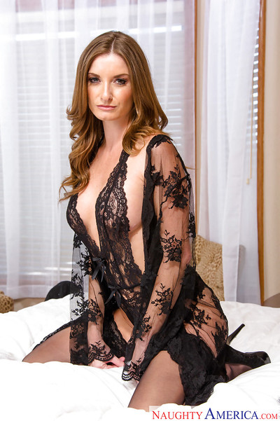 Glamorous mamacita Silvia Saige dolls untamed ebony sexy pants and in nature