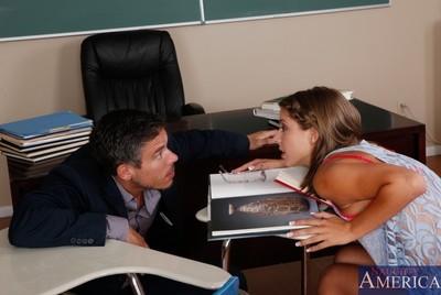 Untamed dark brown dear sleeps with her huge cocked educator
