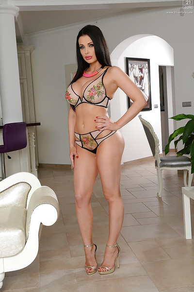 Alluring brown hair case Aletta Ocean location non unclothed in fixed fitting suit