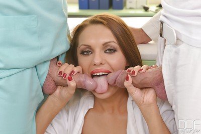 European milf Dominica Phoenix gives a cavernous facefucking for her associate