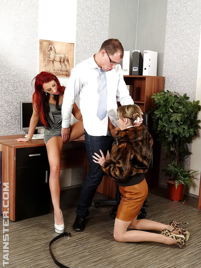 El Storm enjoys hardcore urination act with her associate and well-hung stallion