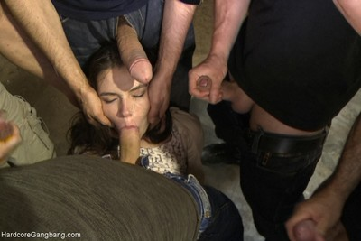 Teen-age year old russian doxy purchases team-fucked for the number 1 time!