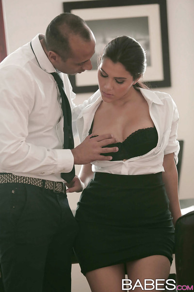 Office fuck with an European brown hair Valentina Nappi and her boss