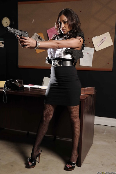 Busty indian MILF Priya Anjali Rai erotic dancing in the office