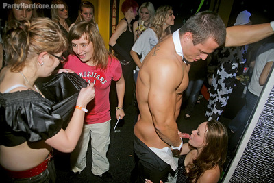 Lustful amateurs going extreme at the night club drunk all together