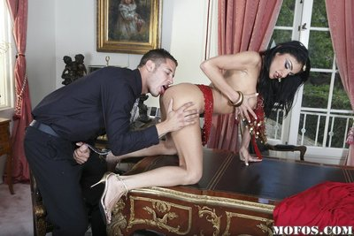 Small indian MILF Persia Pele gains her bawdy cleft licked and drilled hard