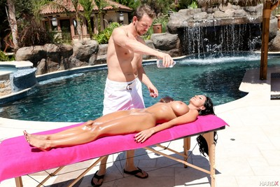 Breasty milf ava addams accepts oiled down and bonked by her masseur