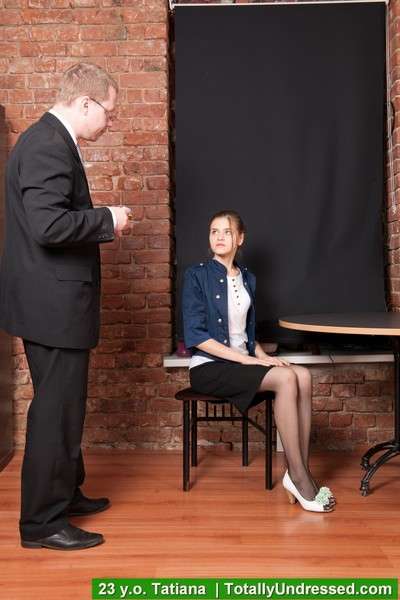Hr clerks make a secretary strip off to none