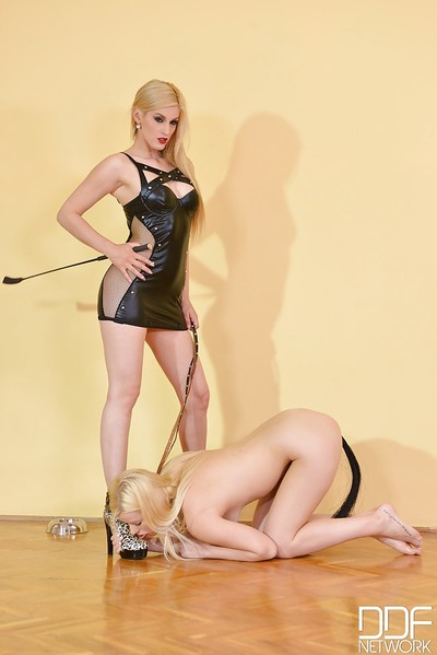 Mira and Charlyse are up to some girl-on-girl Sadomasochism act on high heels