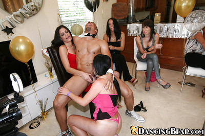 Sweet oral sex tender princesses are deepthroating and swallowing that ebon snake