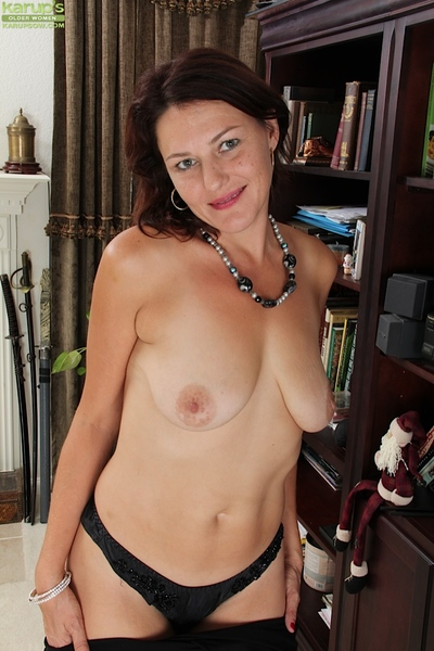Attractive milf wench Ava Aurstin is showing her fresh brown strings