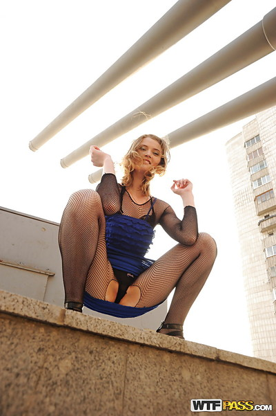 Amazingly enthralling chicito in cylinder fucking and act upskirt outdoor