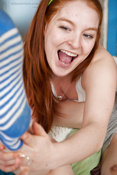 Redhead lesbos Lacie and Sydney licking jointly cages of love and apple bottoms